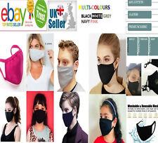 5X Adult & Children Face Mask Washable Cover Shield Breathable Reusable Bulk Lot