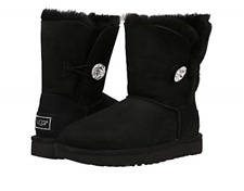 UGG Australia Bailey Button Bling Black Boot Women's sizes 5-11/NEW!!!