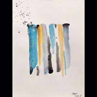 Matt Scalf Abstract ORIGINAL PAINTING Watercolor 9x12 Modern Contemporary Decor