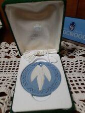New listing Wedgwood White On Blue Angel Christmas Ornament 1989