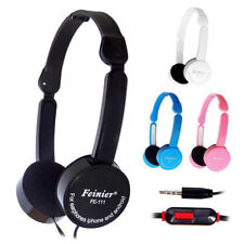 Boys Girls Childrens Kids Over Head DJ Headphones Headsets with Mic For iPod PC