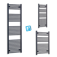 500 mm Wide Matt Black Heated Towel Rail Radiator Designer Bathroom Rad Modern