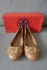 26% OFF! New Auth. Tory Burch Ballet Flats Leather Royal Tan Sz 7 (Bought in US)