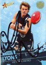 ✺Signed✺ 2016 BRISBANE LIONS AFL Card COREY LYONS Future Force