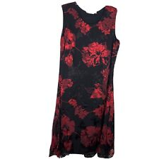 Norm Thompson Womens Black and Red Lace Dress Sleevless Size 14P