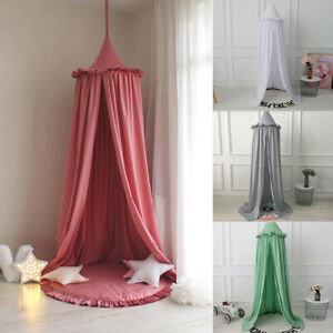 Kid Canopy Bed Curtain Baby Hanging Tent Crib Decor Round Hung Dome Mosquito Net