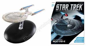 Star Trek TNG USS Enterprise NCC-1701-E Ship & Magazine #21 Eaglemoss New