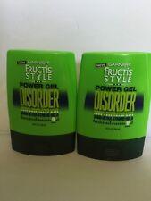 2 x Garnier Fructis Style DISORDER Power Gel Messy 24Hr Ultra Strong Hold 9 oz