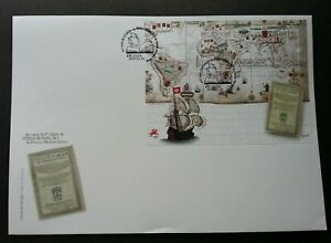 [SJ] Portugal 400 Years 1st Edition Of Peregrinacao 2014 Book Map Ship (FDC)
