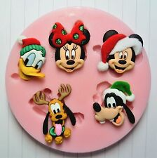 DISNEY CHRISTMAS CLASSICS SILICONE MOULD FOR CAKE TOPPERS, CHOCOLATE, CLAY ETC