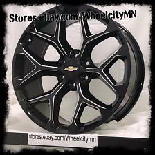 20 inch 2017 Chevrolet Silverado LTZ gloss black milled OE wheels rims 6x5.5 +24