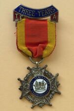 ROYAL  NAVY   <>  Royal Naval Temperance Society  <> THREE YEARS <> MEDAL