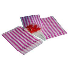 100 5x7 pink & white Sweet Paper Candy Bags  Wedding Gift Cake Favours Party