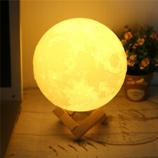 3D Printing Moon Lamp USB LED Lunar Night Light Moonlight Touch Color Changing