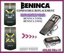 BENINCA T2WK, BENINCA T4WK compatibile radiocomando telecomando 433,92MHz clon
