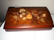 """Wooden Musical Jewellery Box Mele & Co Brand New In Box 10"""" x 5.5"""" lovely gift"""
