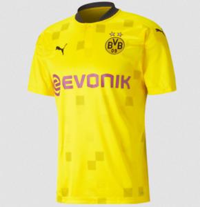 Puma BVB Turniertrikot Kinder + Flock Spielername Borussia Dortmund 2020/21 gelb