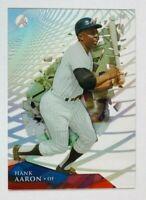 2014 Topps High Tek Hank Aaron Net Grid Parallel Card #HT-HA, Braves Legend!