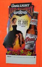 1999 Coors Light Salma Hayek- Queen of Halloween Original Standup Table Tent