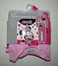 Minnie Mouse thermal underwear set, Girls size 4