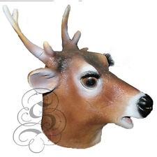 Latex Full Head Animal Stag Deer Reindeer Fancy Dress Props Carnival Party Mask