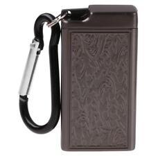 Black Mini Portable Metal Cigarette Pocket Cigar Smoking Ashtray Holder Case