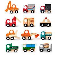 Mini Vehicle Car Wooden Toys Baby Kids Early Learning Educational DevelopmenGift