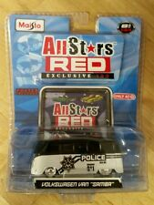 Maisto All Stars Red Target Exclusive 100 Volkswagen Police Van Samba w/poster