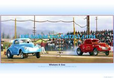 Stone Woods & Cook vs Big John Mazmanian circ. 1964.. Drag Racing Art Print