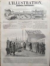 L'ILLUSTRATION 1845 N 146 DEBARQUEMENT D' IBRAHIM PACHA A TOULON, le 27 novembre