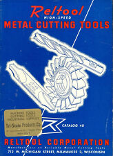 1940s Reltool High Speed Metal Cutting Tool Catalog No. 48 Saws Milling Cutters