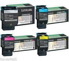4 x Lexmark Original OEM Laser Cartouches Toner pour C544 C544dtn