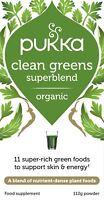 Pukka CLEAN GREENS Superblend Organic Food Supplement 112g Powder