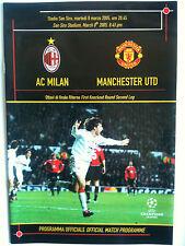 MINT 2004/05 AC Milan v Manchester United Ch Lge Q/F 2nd Leg