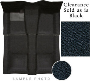 "75-91 FORD FULL SIZE ""E"" VAN Carpet Black Passenger Area 80-20 Loop Clearance"
