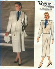 80s Vintage Christian Dior Suit Short Coat Jacket Skirt Vogue Paris Pattern B 31