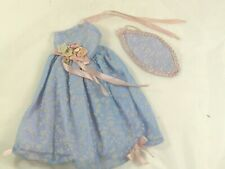 Vtg Blue Dress for Kelloggs Grown Up Little Miss Revlon Coty Nancy Ann Dolls