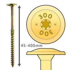 Holzschrauben Tellerkopf Flachkopf TX Torx Teilgewinde ETA gelb verzinkt