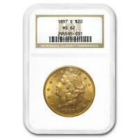 1897-S $20 Liberty Gold Double Eagle MS-62 NGC - SKU#18619