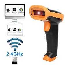 AU-Wireless Bluetooth Barcode Scanner Reader For Apple Laptop PC Win10 Win7/8