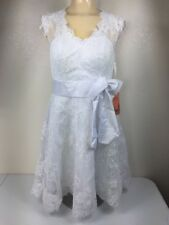 I Love Wedding Dresses Wedding Dress White Lace Above Knee Womens Sz Small Short