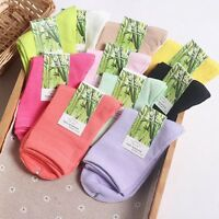 5-10 Pack Womens Bamboo Socks Casual Sports Multicolor Warm Solid Soft Classic