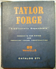 Taylor Forge Pipe Fittings Weldells Flanges Catalog Asbestos Gaskets 1950's