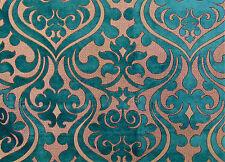 Chelsea Damask High End French Velvet Turquoise Baroque Roccoco Renaissance