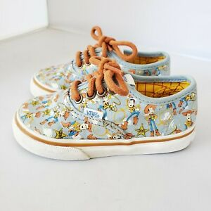 Vans Disney Pixar Toddler 6 Toy Story Woody Lace Up Kids Shoes