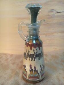 Aztec Sand Picture In Cruet Bottle