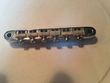 Gibson Guitar  ABR-1 Bridge Mid 60s  Chrome w/Nylon Saddles & retaining wire