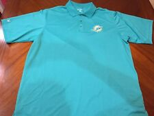 e53b048b9 Antigua Miami Dolphins Logo Polo Shirt Short Sleeve Teal Men s Size L NWOT
