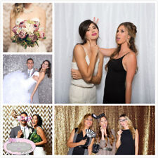 4FT*7FT Sparkly Sequin Backdrop Curtain Photo Booth Background Wedding Decor