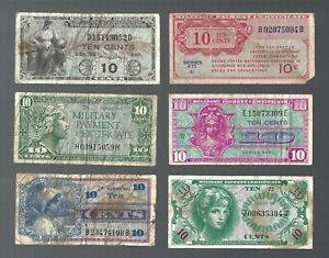 US MPC SERIES 471 481 521 611 641 661 🎇 10 cents x 6 🎆 Collections & Lots #477